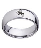 Arizona state sun devils logo stainless steel arc women and men sport ring 60 thumbtall