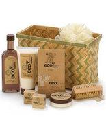 EcoNomy Bamboo Sugarcane Bath Basket Gift Set - $29.99