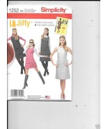 1252 MISSES  JIFFY DRESS/JUMPER  SIZE 14/22 NEW SIMPLICITY  SEWING PATTE... - $5.83