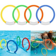 Ytuomzi Dive Rings Swimming Pool Toy Rings 4 PCS Plastic Diving Ring Col... - $10.92