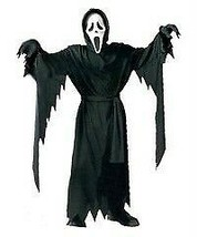 NEW KIDS GHOST FACE AS SEEN IN SCREAM FITS UP TO 12 HALLOWEEN COSTUME BLACK - $25.99