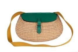 Hermes Osier Wicker Fishing Bag Vert Green - $34,645.05
