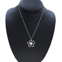 "Tiffany & Co. Flower Necklace 16"" Silver 925 - $167.31"