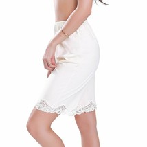 New Women's Premium Illusion Classic Trouser Pants Half Slip With Lace Trim 2637 image 2