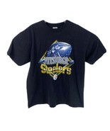 Vintage Pittsburgh Steelers Mens Sz 2XL Black Dynasty 90s NFL Football T-Shirt - $23.74