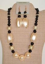 VTG Chunky Bold Plastic statement Bead Necklace & Dangle Pierced Earring... - €14,61 EUR