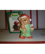 1995 Kwik Fill Traditions Ornament Merry Sweet Dreams Bear Gas Station C... - $3.77