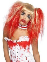 Long Blonde Curly Wig, Blood Drip Wig With Blood Drip Effect, Halloween. - $13.37