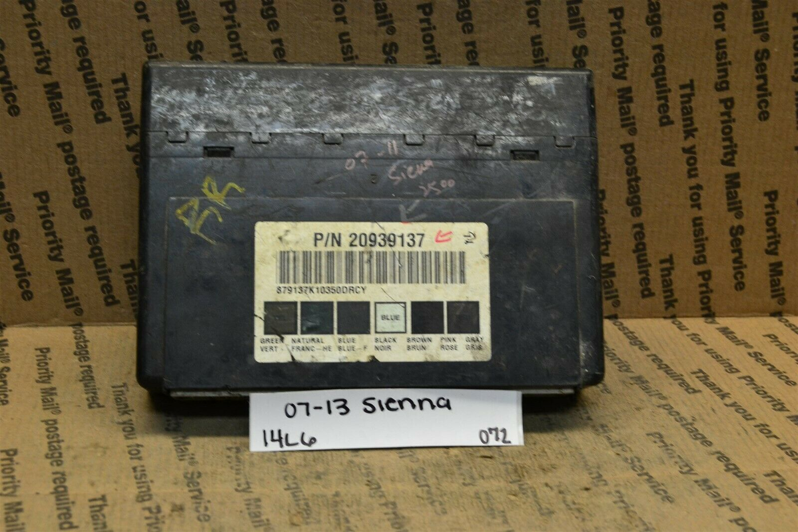 Primary image for 07-13 Gmc Sierra Body Control Module 20939137 BCM 072-14A6