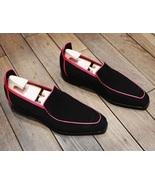 Handmade Men elegant Suede Tassels shoes, Men Black Driving Shoes, Men S... - $169.99