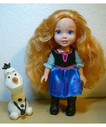 "Disney Frozen Little Anna Doll 6"" with OLAF 3"" - $21.78"