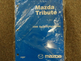 2008 Mazda Tribute Service Highlights Manual Factory Oem Book 08 New - $13.33