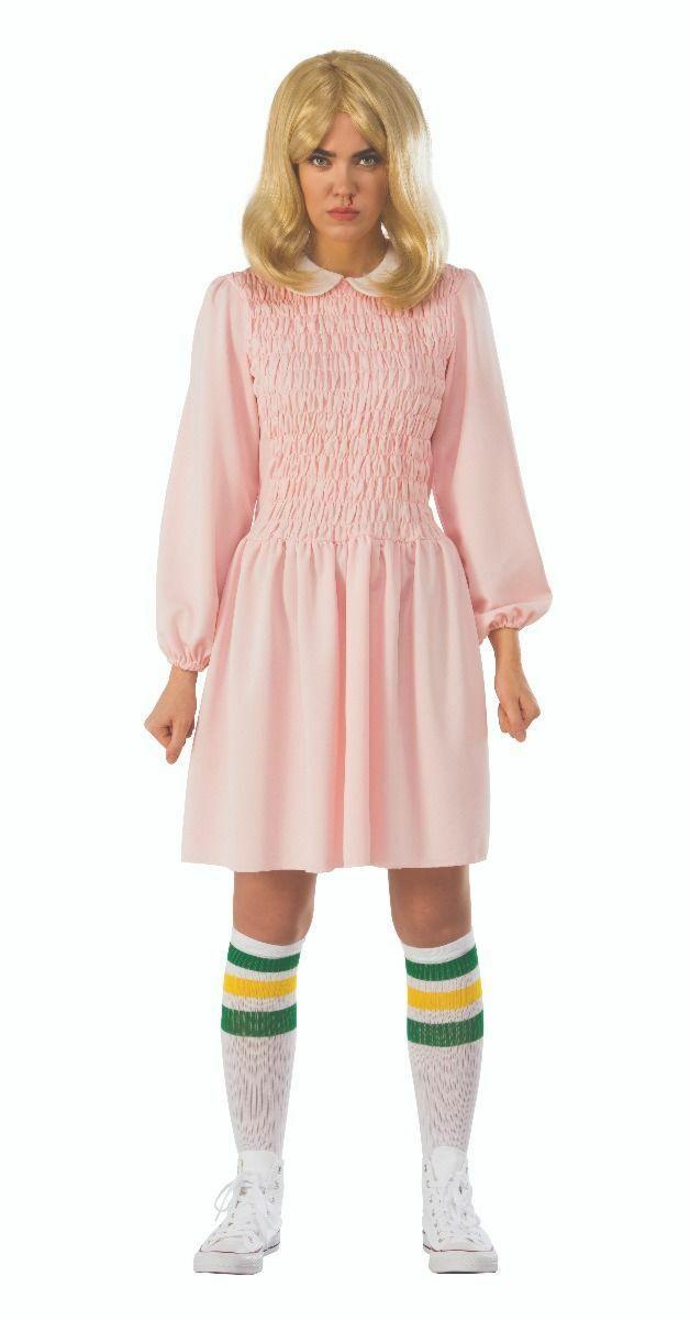 Rubies Stranger Things Elf Replik Rosa Kleid Erwachsene Halloween Kostüm 700031