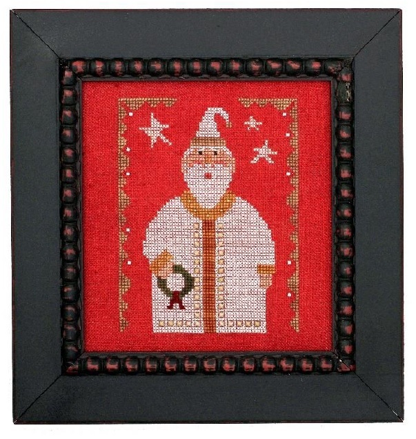Wee One: Santa 2017 cross stitch chart Heart in Hand