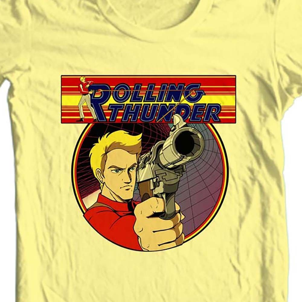 Rolling thunder t shirt retro 1980 s arcade video game vintage graphic tee