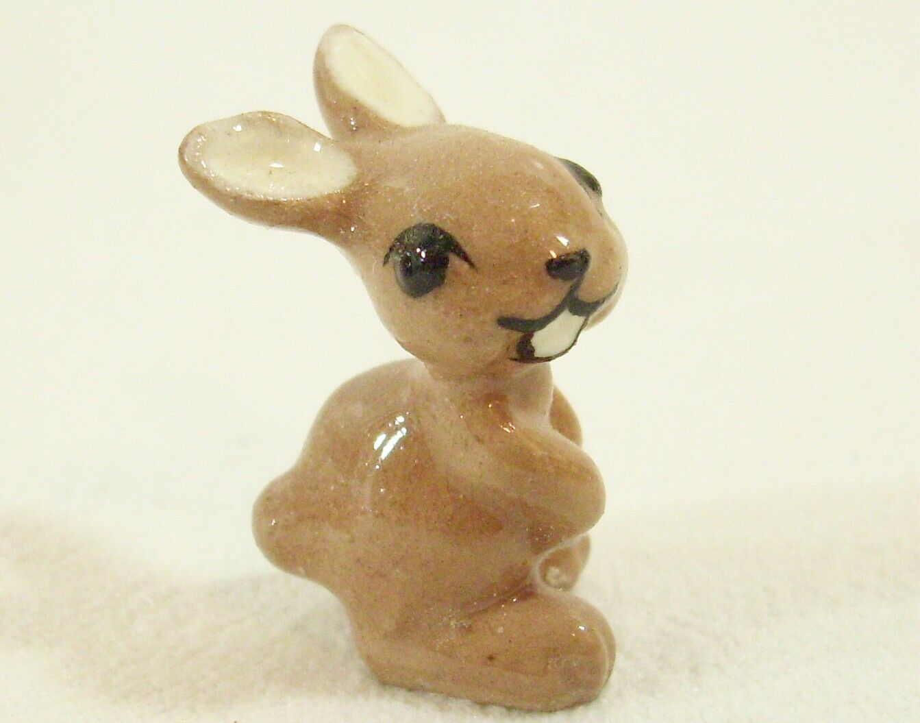 Primary image for Hagen Renaker Miniature Rabbit Baby Ears Apart Vintage Bunny Tan Figurine 128