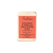 Shea Moisture Coconut & Hibiscus Shea Butter Bar Soap Brightening Clean ... - $9.84