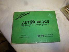 autobridge no. PA for advanced players auto bridge deluxe pocket model  - $19.99