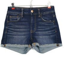 American Eagle Womens Jean Shorts Hi-Rise Shortie Super Stretch 4 Cut Of... - $33.85