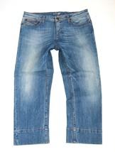 Women's Vintage TOMMY HILFIGER Cropped 3/4 Blue Denim Jeans Shorts Size W31 L23 - $38.21