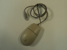 Apple Desktop Bus Roller Ball Mouse II PS2 Gray Macintosh One Button M2706 - $12.26