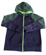 Champion Duo Dry Boys Navy Blue Green Long Sleeve Zip Up Hoodie Sweatshi... - $9.28