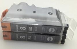 Genuine Canon CLI-8BK Oem INK~BLACK~8 BK~2 Pack - $19.31