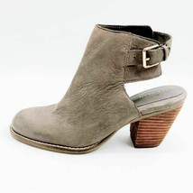 Cole Haan Womens Pippa Ankle Booties Gray Leather Block Heel Open Back 7... - $41.55
