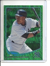 (B-2) 2013 Topps #214: Curtis Granderson - Green Cameo Sparkle Refractor - $3.00