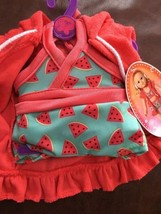 """MY LIFE PInk Watermelon Bikini  & Cover Up Fits 18"""" DOLL OUTFIT NWT - $24.74"""