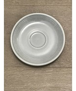 Vintage HLC FIESTA WARE 1950's Gray Saucer Plate - $8.00