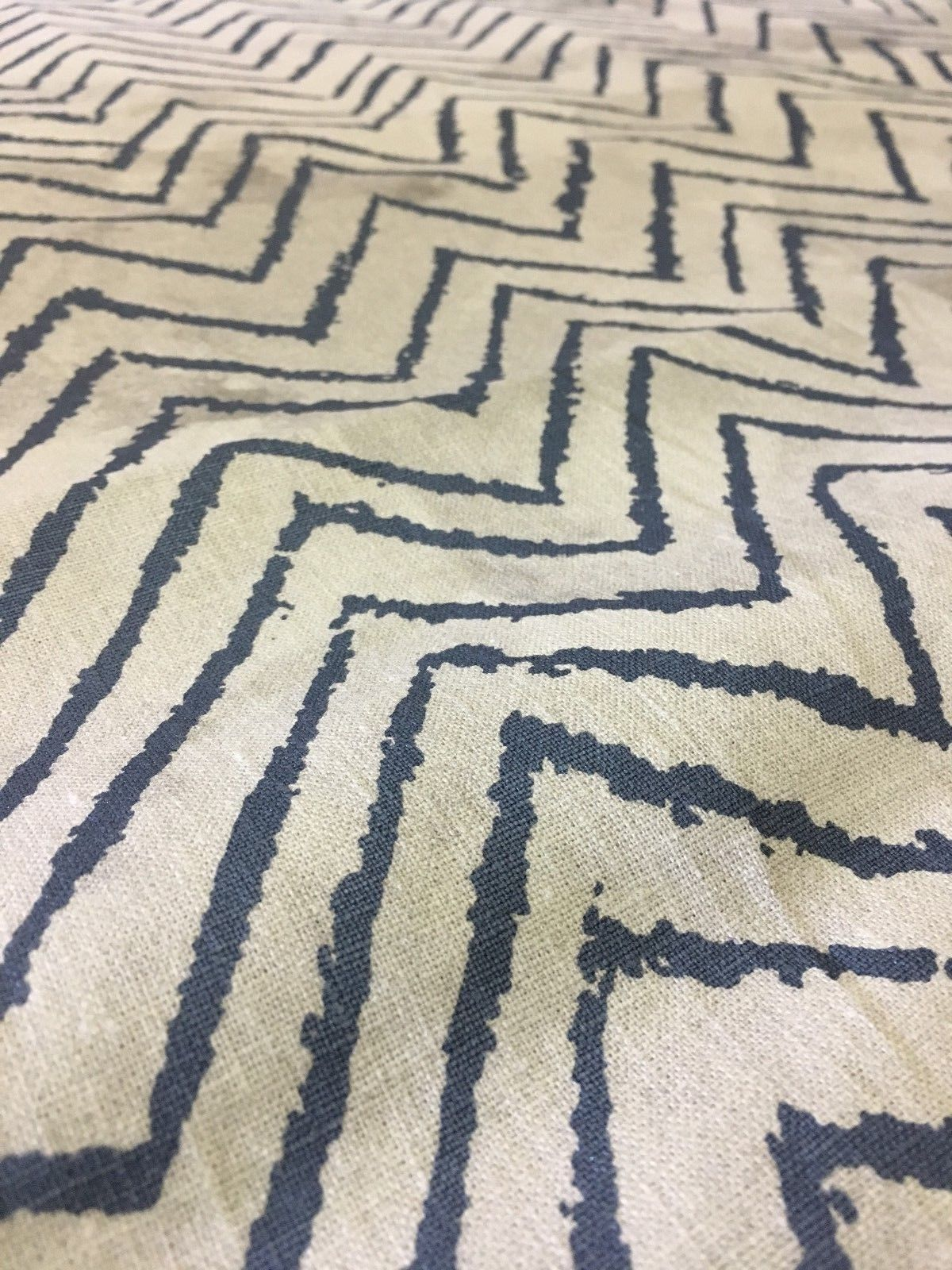 2.125 yds Lee Jofa Upholstery Fabric Serendipity Chevron Print 3517.15.0 RQ