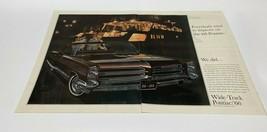 Vintage 1966 Pontiac Wide-Track Improved Print Ad  - $13.81