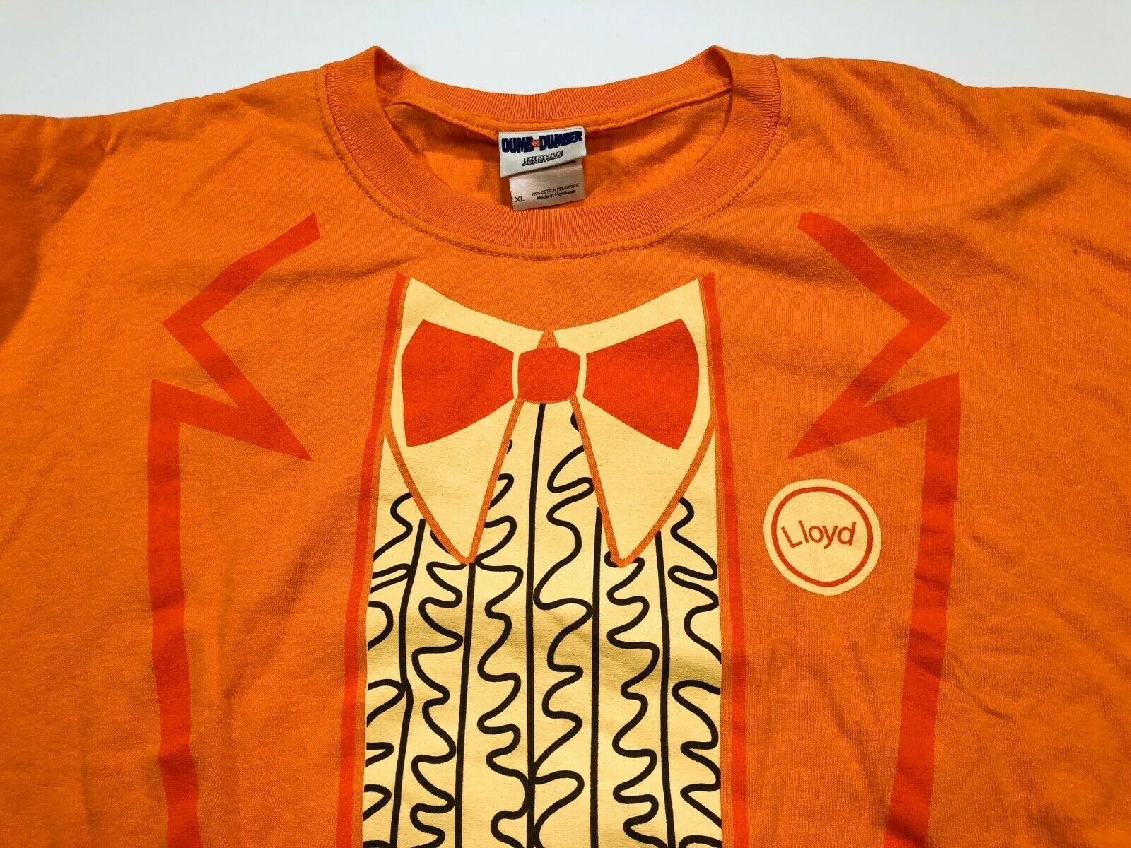 Dumb and Dumber Lloyd Orange Suit T-shirt XL Jim Carrey Lloyd Christmas