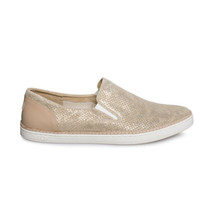 UGG ADLEY PERF STARDUST GOLD LEATHER SLIP ON SNEAKER WOMEN'S SHOES SIZE ... - $1.045,30 MXN