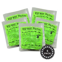 BEST Premium 100% Natural Elk Honey B-B-Q Flavor 2 OZ Wild West Jerky - ... - $39.04