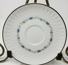 """Noritake 6460 Minuet Saucer 6"""" Pink Blue Flower Ring Made in Japan 1963-70 - $8.59"""