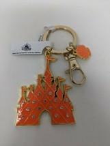 Disney Parks Coral Cinderella Castle Jewelled Seashell Keychain - $12.19