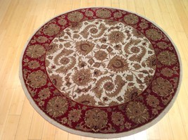 5 x 5 Fine Oriental Jaipur Kashan Design Hand Knotted 100% Wool Rug CW 283 - $449.10