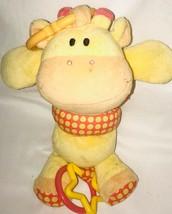 Koala Baby Giraffe Plush Pull Toy Crib Stroller Clip Yellow Orange Rattle - $9.01