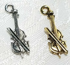 CELLO FINE PEWTER PENDANT CHARM 3x25x7mm image 1