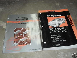 1994 TOYOTA PASEO Service Shop Repair Manual Set OEM 94 W WIRING DIAGRAM... - $22.72