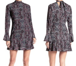$165 Romeo & Juliet Couture Rock the Print Dress Small 2 4 6 Button Slee... - $55.72