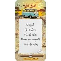 VW Campervan Let's Get Lost Old Bulli Split Screen Gift Magnetic Notepad - $9.84