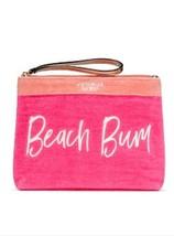 Victoria's Secret Beach Bum Hot Pink Bikini Makeup Bag Zipper Closure New - $24.70