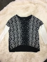 Hurley Black White Triangles Long Sleeve Sweater Top Size XS/S - $21.78