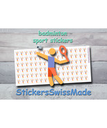 badminton   planner stickers   sport   for planner and bullet journal - $3.00+