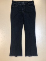 Nine West Arianna Womens Bootcut Cotton Blend Jeans Sz 8 Dark Wash - $19.99