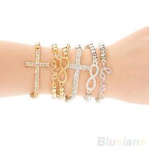 Fashion Women Bracelet Crystal Cross Love - $4.99
