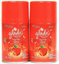 2 Glade Limited Edition Cozy Cider Sipping 6.2 Oz 60 Days Automatic Spray Refill - $17.81